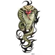 Kinghorse Temporary Tattoo for Men , Water-sweat-proof, cobra