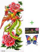 YiMei temporary tattoos waterproof sexy phoenix flowers Beauty influx of goods
