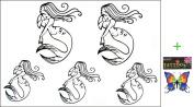 2012 latest new design hot selling Men and women waterproof temporary tattoo mermaid tattoo sticker