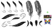 2012 latest new design hot selling Men and women waterproof tattoo sticker feather fake tattoo