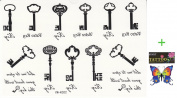 2012 latest new design new release tattoo stickers waterproof men and women of the black and white letter keys Totem temporary Tattoo