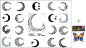 2012 latest new design new release Blue Moon of men and women waterproof tattoo sticker