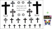2012 latest new design new release Temporary tattoos waterproof cross hexagram fake tattoo