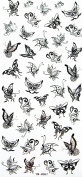 GGSELL YiMei Lovely flying butterfly temporary tattoos