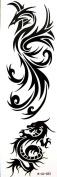 GGSELL YiMei temporary tattoos waterproof latest trend of the Black dragon phoenix