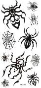 GGSELL YiMei Waterproof black temporary tattoos spider web spider