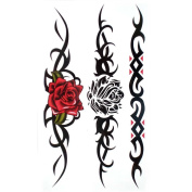 GGSELL King Horse Waterproof and sweat tattoo stickers sexy Red rose Black rose for women