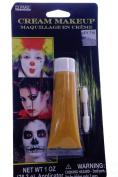 Yellow Cream Face and Body Halloween Makeup
