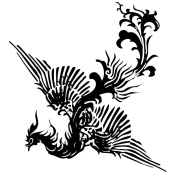 GGSELL Extra large size A4 size 21cm x 30cm waterproof Phoenix temporary tattoos