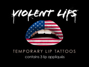 Violent Lips The American Flag Temporary Lip Appliques - Set of 3