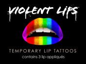 Violent Lips - The Rainbow - Set of 3 Temporary Lip Appliques