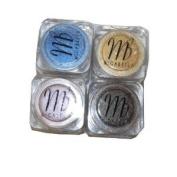 MicaBella Mineral Make Up 4 Item Eyeshadow Shimmer Set #72 Earth, #89 Effervescence, #101 Sunshine, #74 Mushroom 1.75 Grammes Each