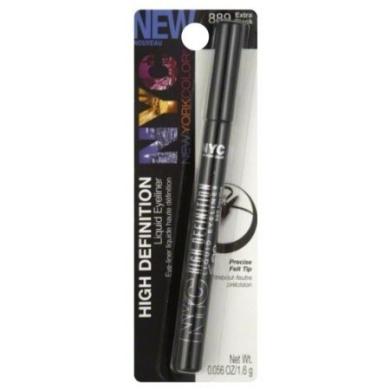 New York Colour Liquid Eyeliner, Extra Black 889 0ml (1.6 g)