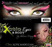 """Xotic Eyes """"Circa"""" Eye Card Eye Pastie Makeup Accessory Blacklight Reactive"""