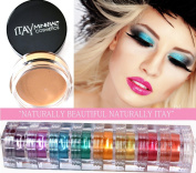 Itay Mineral 9 Stacks Shimmer Caribbean Samba + Eye Primer + Cala Mineral Dispenser Brush 77120
