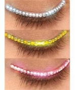 Rubies Sparkle Eyelid, Silver, One Size