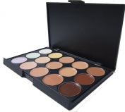 NEW!!! ML Collection Pro 15 Colour Camouflage Concealer + FREE 2 Eye Brushes with cap