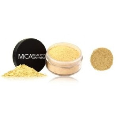 "Mica Beauty Natural Mineral Makeup Loose Powder Foundation ""Mf5 Cappuccino"" 9g +Eye Shimmer #34 1.75 Gramme"