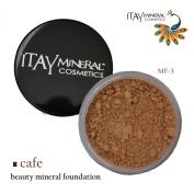 Itay Mineral Foundation Loose Powder 9gr MF3 - CAFE AU LAIT + Cala Lily 7pcs Brush Set 70816