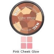 NYC New York Colour Colour Wheel Mosaic Face Powder, 723A Pink Cheek Glow, 10ml