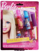 Barbie Roll-On Lip Gloss - 7 Pack Lip Gloss with 5 Unique Flavours