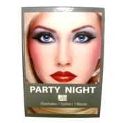Silver Party Night Look Kit Eye Shadows Liquid Eye liner and Mascara