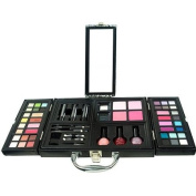 The Colour Workshop Wings of Beauty Train Case Cosmetic Kit, Black, 54 Pc