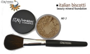 "ITAY Beauty 100% Natural Mineral 9gr Colour - MF18cm Italian Biscotti"" Foundation + * * Application Brush"