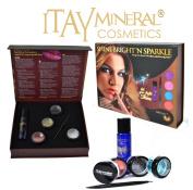 "Itay Mineral Cosmetics Dazzling Cosmetic Glitters ""Shine Bright'n Sparkle -Ruby Set Include Glitter Glue - Itay Sparkle Bond"