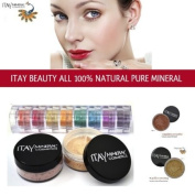 Itay 100% Mineral Foundation MF4 'Golden Nutmeg' + 8-stack 100% Mineral Eyeshadow 'Carribean Samba' + *Free Gift* ITAY 100% Mineral Blush MB6 'Raspberry Smoothie'