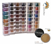 Itay Beauty Mineral Cosmetics Eye Shadow Shimmer 6 X 8 Stacks:caribbean Samba, Nature Beauty, Best 4 Blue Eyes, Best 4 Green Eyes, Best 4 Brown Eyes, Best 4 Black Eyes + Mineral Foundation Colour