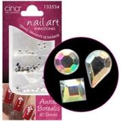 CinaPro Nail Creations Aurora Borealis Crystal 60ct