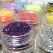 12 Glitter Powder Dust for Nail Art