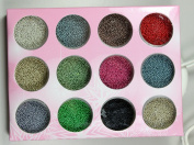12 colours small boxes of nail accessories small ball decoration