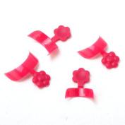 Yesurprise 500 pcs French Half Nail Art False Tips Acrylic DIY Decorations Rose
