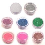Moyou Nail Art acrylic nails Glitter Powder 8 colours bundle