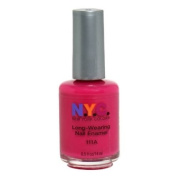 New York Colour Long Wearing Nail Enamel, Fuchsia Shock Creme, 0.45 Fluid Ounce