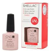 CND Shellac CLEARLY PINK Gel UV Nail Polish 5ml Manicure Soak Off 1/4