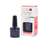 CND Shellac MIDNIGHT SWIM Gel UV Dark Blue Nail Polish Soak Off 5ml Manicure