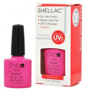 CND Shellac HOT POP PINK Gel UV Nail Polish 5ml Manicure Soak Off 1/4
