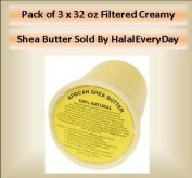 Pack of 3 x 950ml CREAMY FILTERED SHEA BUTTER