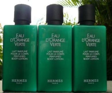 8.4 Ounces of Hermes d'Orange Verte Body Lotion (Six 40ml Bottles)