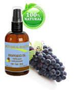 Botanical Beauty Grapeseed Oil, 100% Pure, Cold Pressed.. 4 oz-120 ml