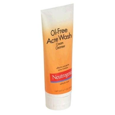 Neutrogena Oil-Free Acne Wash Cream Cleanser, 6.7 Ounce (200 ml)
