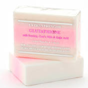 Premium Extra Strength Whitening Soap w/ Glutathione, Goats Milk, Rosehip, and Kojic Acid