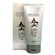 Korean Cosmetics Nesura Black Science Charcoal Foam Cleansing 170g
