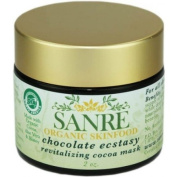 SanRe Organic Skinfood - Chocolate Ecstasy - USDA Made with Organic Cocoa Antioxidant Mask For All Skin Types