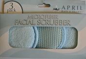 April Microfiber Facial Scrubbers - 3 Per Pack