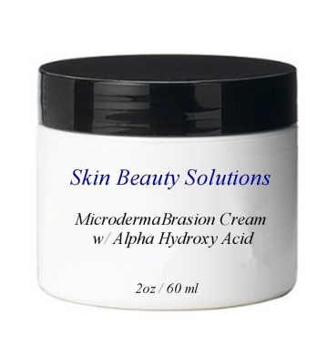 2 oz Micro DermaBrasion Cream with Glycolic Acid & MicroDermaBrasion Aluminium Oxide Crystals-for Face Use -120 grits, Pure White Micro Derma Brasion Crystals-Acne Wrinkles, Dull Skin, Blackheads, Scars and More