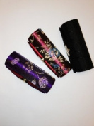 Lipstick Case 3pcs Set Lipstick Case w/Mirror,Hi-End Japanese Textiles Fabric with Floral Design ,Random Colours, Assorted 8.9cm L x 3.2cm W Holds 1pc Standard Lipstick ,Super Value , .  d !